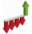 arrows diagram vector image vector image
