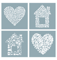 house and heart vector image vector image
