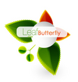 leaf butterfly vector image