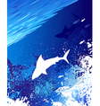 sea underwater background vector image