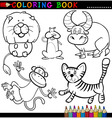 Animals for Coloring Book or Page vector image