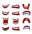 comic mouth emotions set vector image