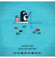 Fishing card vector image