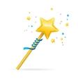 Magic Wand with Shining Star vector image
