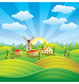 rural scenery vector image