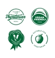 Suitable for vegetarian Vegan related labels set vector image