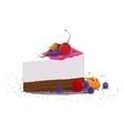 sweet piece of cake vector image
