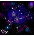 virgo constellation with triangular background vector image