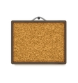 Cork board with wooden frame vector image