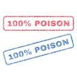 100 percent poison textile stamps vector image