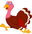 Happy turkey cartoon running vector image