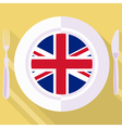 kitchen of Great Britain vector image