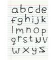 lower case scribble alphabet o vector image vector image