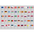 European flags vector image vector image
