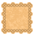 brown frame with grunge background vector image