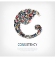 consistency people sign 3d vector image