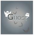 Ghost design background vector image