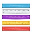 school plastic ruler measure tools vector image