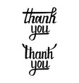 thank you postcard set hand drawn greeting card vector image