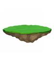 Floating island isolated vector image