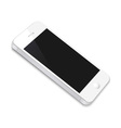 White Smartphone vector image vector image