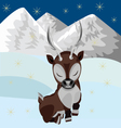 Reindeer in the snow vector image
