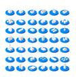 isometric icon vector image