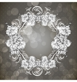 Floral frame in vintage style vector image vector image