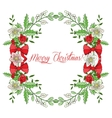 Background with Christmas decoration vector image