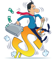 managing money vector image vector image