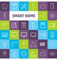 Line Art Smart Home Icons Set vector image
