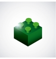 Piece of lego icon Game design graphic vector image