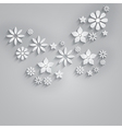 Abstract background with paper flowers vector image
