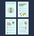 green energy and money saving vector image