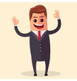 manager character happy and with open arms vector image