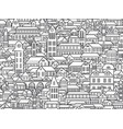 outline town vector image