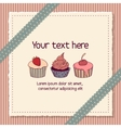 Scrapbooking card with cupcakes vector image