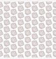 seamless pattern with seashell on white vector image