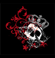 Gothic skull vector image