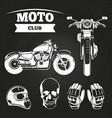 moto club motorcycle helmet vector image