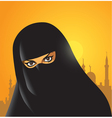 arabian woman vector image
