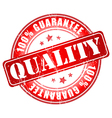 Quality guarantee stamp vector image