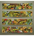 Cartoon hand-drawn camp doodle banners vector image