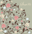 gray floral card vector image vector image