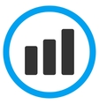 Bar Chart Increase Flat Rounded Icon vector image
