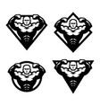 bodybuilder sport fitness logo vector image