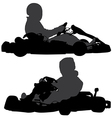 Go-Kart Silhouette vector image