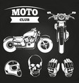 moto club motorcycle helmet vector image