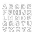Outline Bold Vintage Retro Font vector image