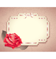 retro card rose vector image
